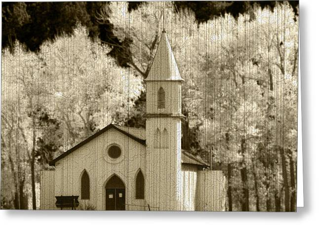 Weathered House Of Worship Greeting Card