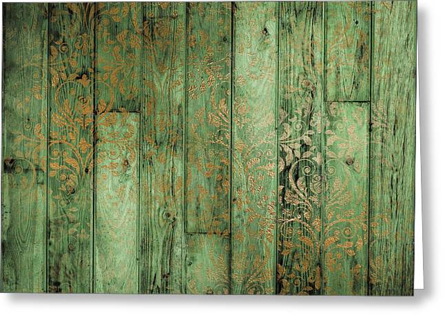 Weathered In Olive Green Greeting Card