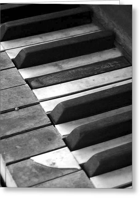 Weathered Music Greeting Card by Adam Vance