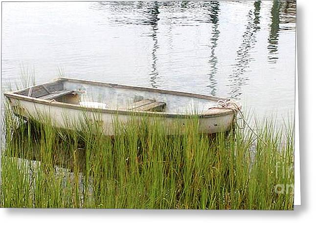 Weathered Old Skiff - The Outer Banks Of North Carolina Greeting Card