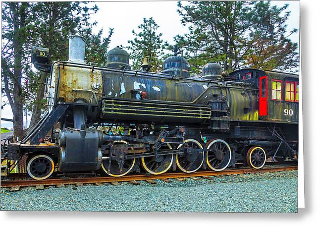 Weathered Old Train Greeting Card by Garry Gay