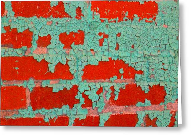 Weathered Painted Wall Two Greeting Card