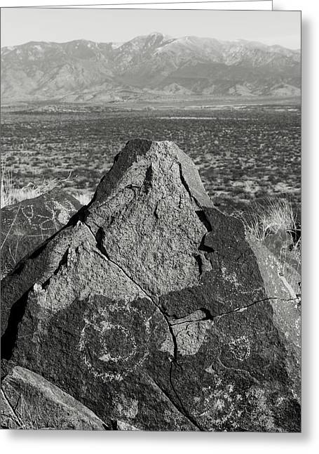 Weathered Peaks Greeting Card by Joseph Smith