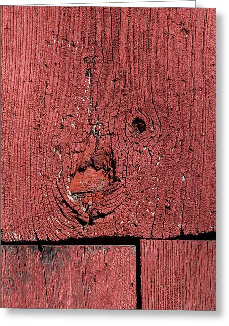 Weathered Red Barn Wood  Greeting Card