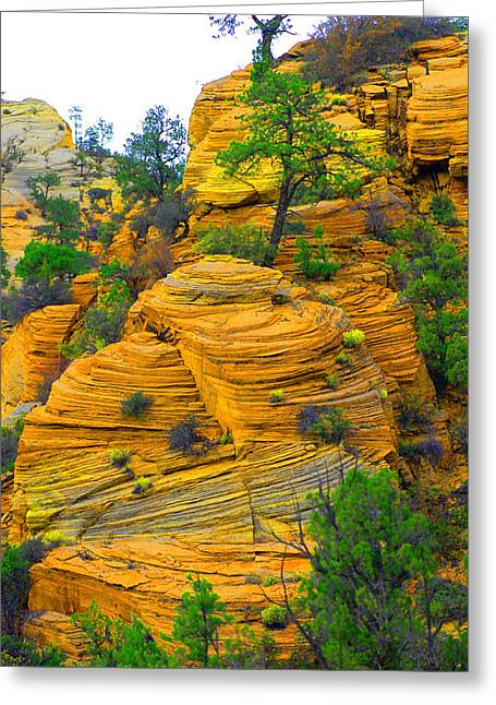 Weathered Rock Greeting Card by Dennis Hammer