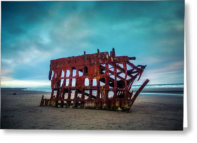 Weathered Rusting Shipwreck Greeting Card