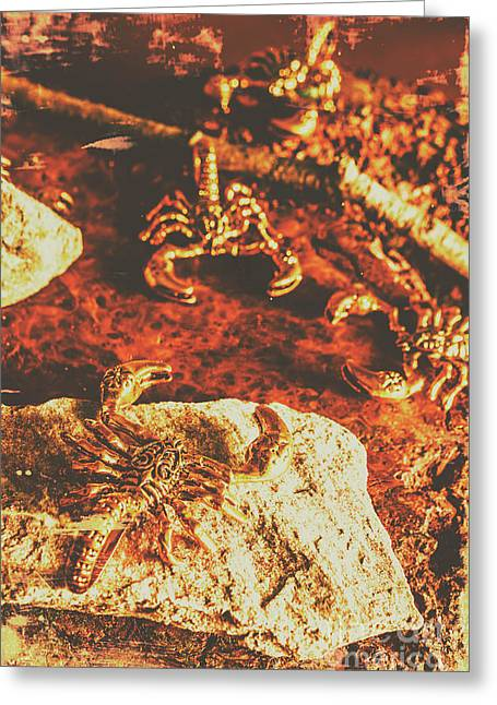 Weathered Scorpion Art Greeting Card