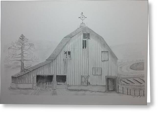 Weathered The Barn Greeting Card by Daniel Kraus