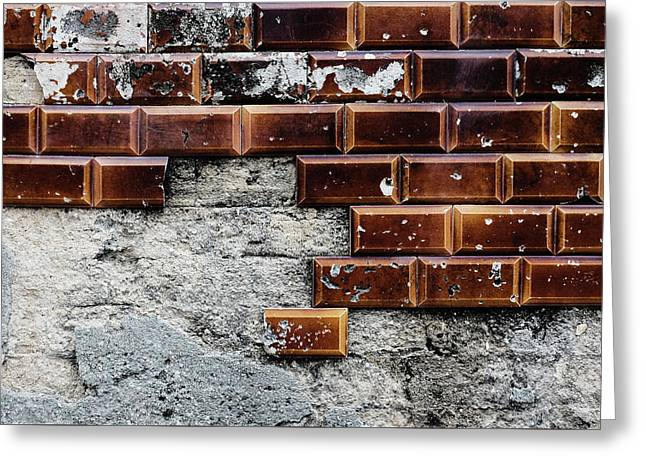 Weathered Tile Wall Greeting Card