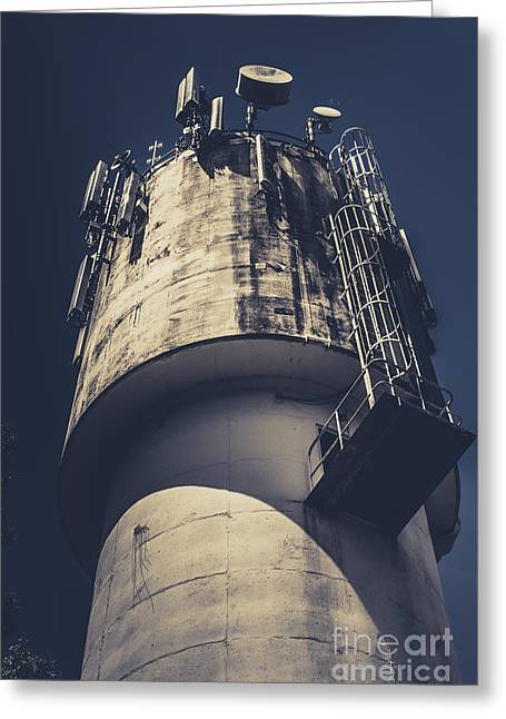 Weathered Water Tower Greeting Card by Jorgo Photography - Wall Art Gallery
