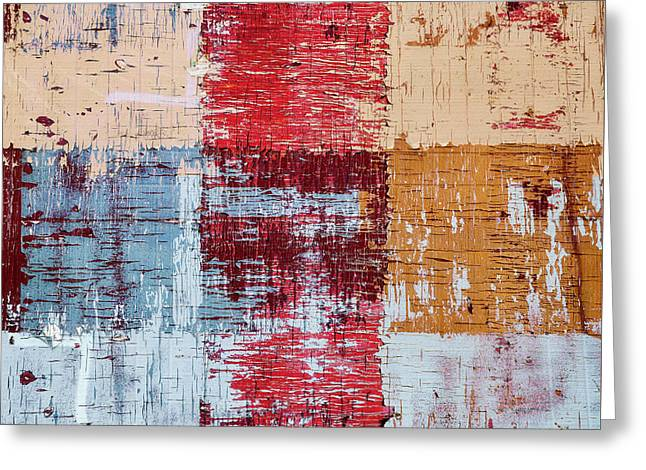 Weathered Wood Colorful Crossing 1 Of 3 Greeting Card