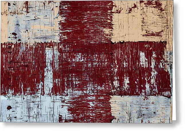 Weathered Wood Colorful Crossing 2 Of 3 Greeting Card