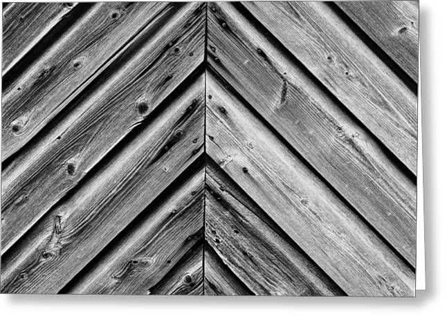 Greeting Card featuring the photograph Weathered Wood by Larry Carr