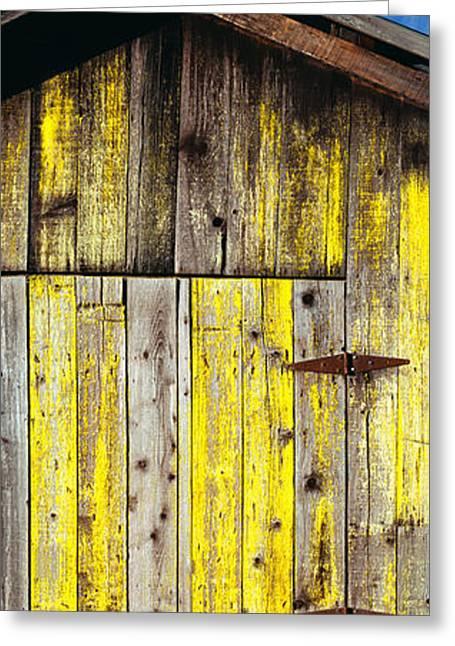 Weathered Wooden Barn, Gaviota, Santa Greeting Card