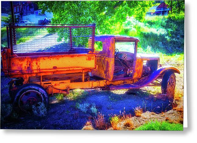 Weathered Yellow Truck Greeting Card