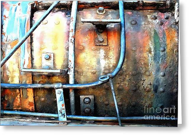 Greeting Card featuring the photograph Weathering Steel - Rail Rust by Janine Riley