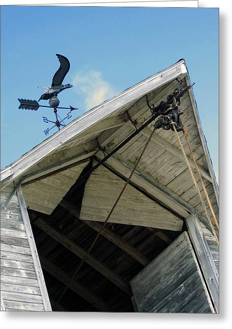Weathervane Over The Hay Loft Greeting Card by Laurie With