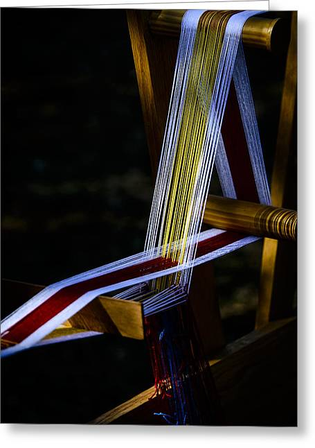 Weaving At Dawn Greeting Card