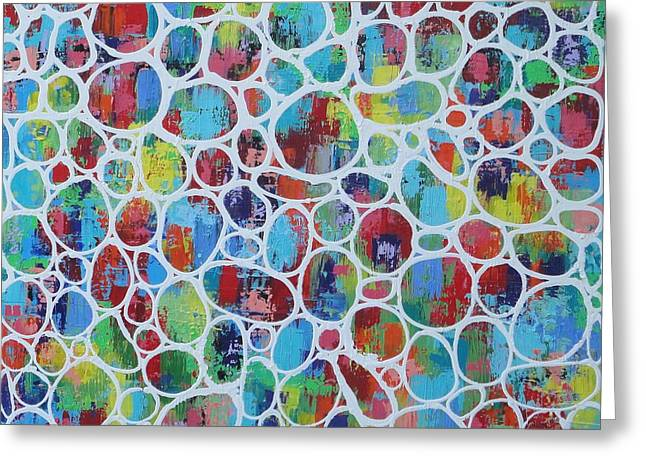 Web Of Colour 2 Resin Greeting Card
