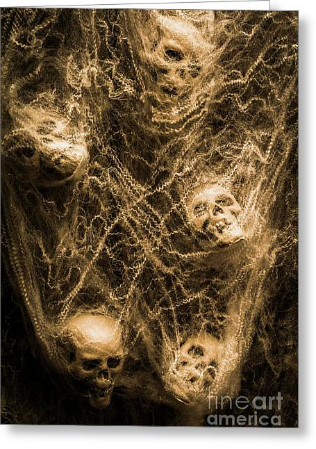 Web Of Entrapment Greeting Card by Jorgo Photography - Wall Art Gallery