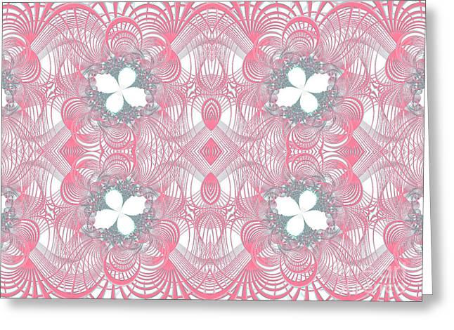 Web Of Threads 1 Greeting Card by Ganesh Barad