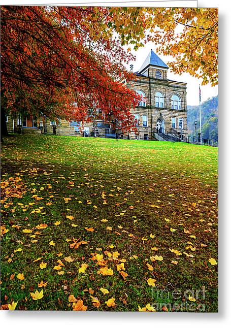 Webster County Courthouse Autumn Greeting Card by Thomas R Fletcher