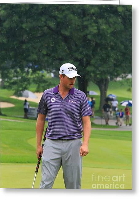 Webb Simpson Greeting Card by Douglas Sacha