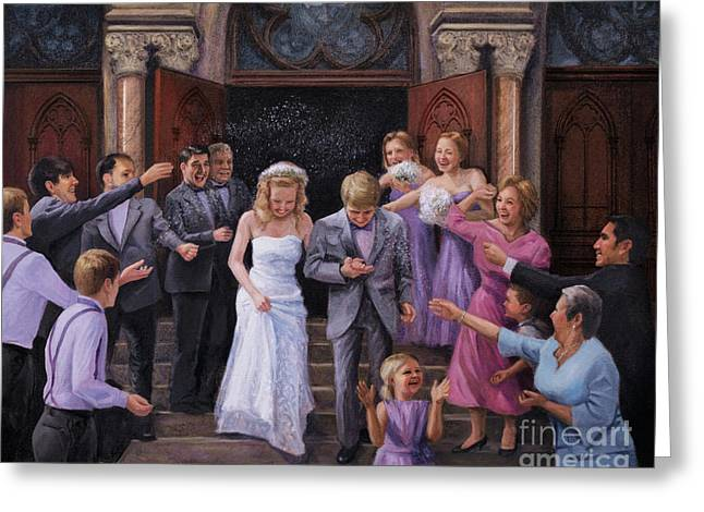 Wedding Bells Greeting Card by Christopher Panza