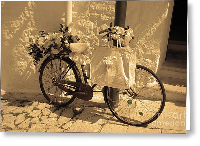 Wedding Bike Greeting Card