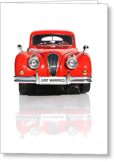 Wedding Car Greeting Card by Jorgo Photography - Wall Art Gallery