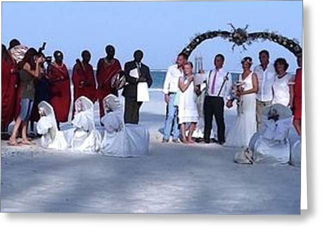 Wedding Complete Panoramic Kenya Beach Greeting Card