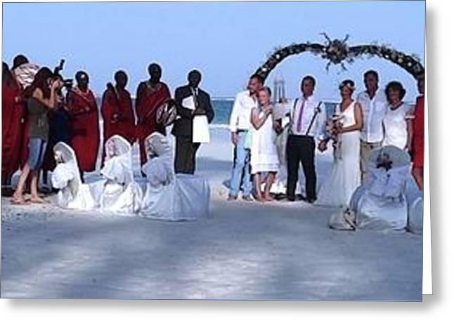 Wedding Complete Panoramic Kenya Beach Greeting Card by Exploramum Exploramum