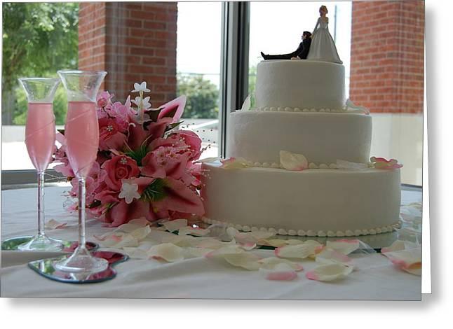 Wedding Day Greeting Card by Beverly Hammond