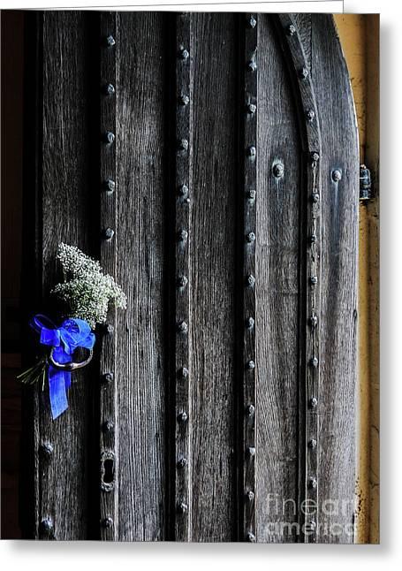 Wedding Door In Appleby Magna Greeting Card