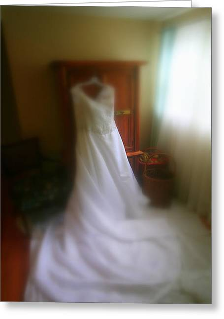 Wedding Dress In Waiting Greeting Card