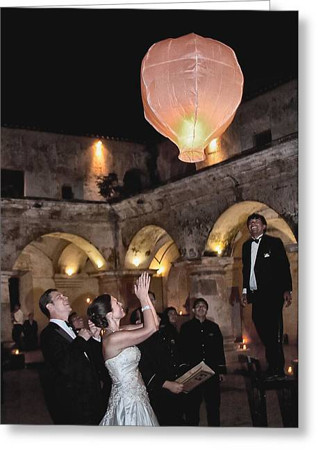 Wedding Globos Greeting Card by David April