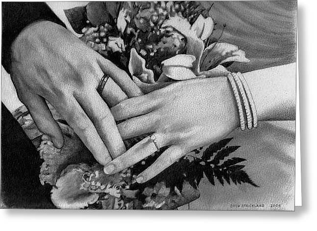 Wedding Hands Greeting Card by Doug Strickland