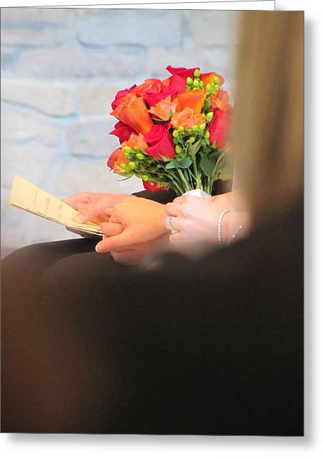 Wedding Hands Greeting Card by Kelly Mezzapelle