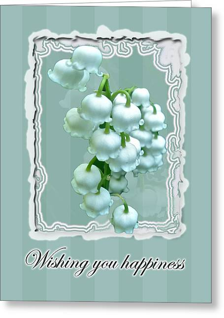 Mother Nature Greeting Cards - Wedding Happiness Greeting Card - Lily of the Valley Flowers Greeting Card by Mother Nature