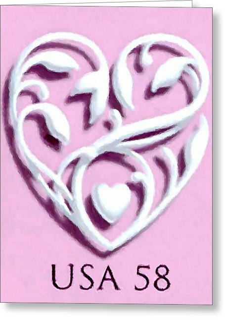 Wedding Hearts Greeting Card by Lanjee Chee