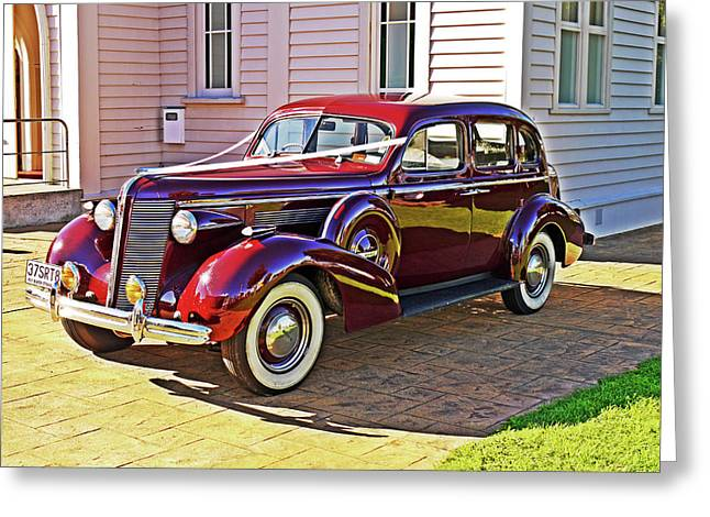 Wedding Limousine Greeting Card by Kenneth William Caleno