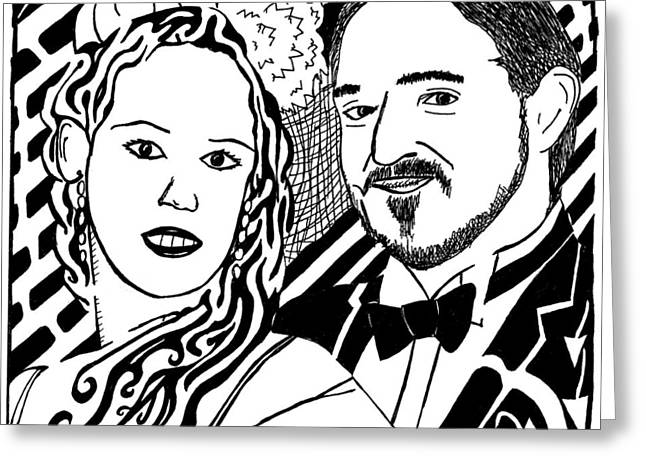Wedding Maze Greeting Card by Yonatan Frimer Maze Artist