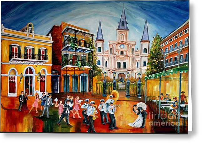 Wedding New Orleans' Style Greeting Card by Diane Millsap