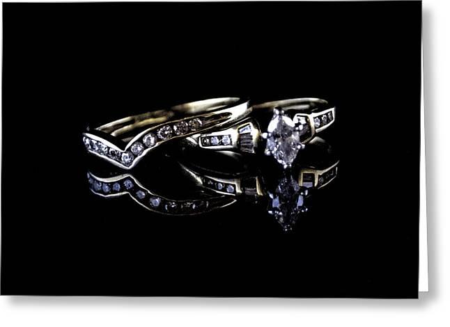 Wedding Ring Greeting Card by Renee Barnes