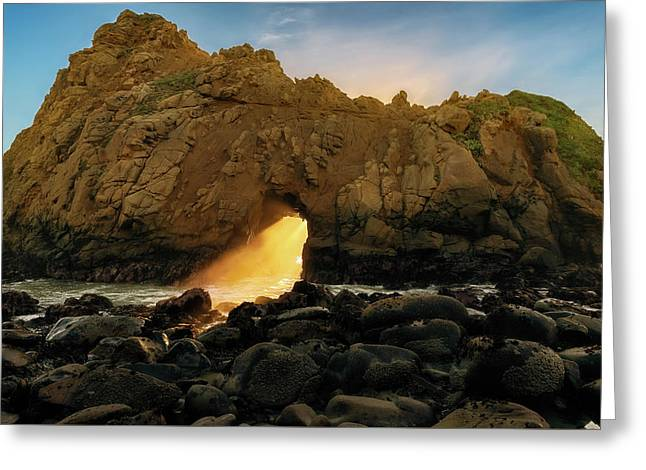 Greeting Card featuring the photograph Wedge Of Light by John Hight