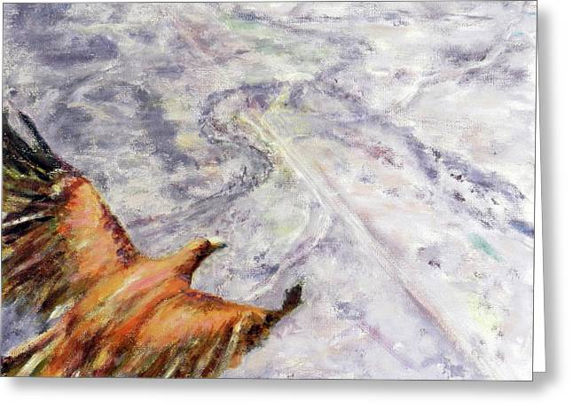 Wedgetail Eagle Over The Landscape Greeting Card