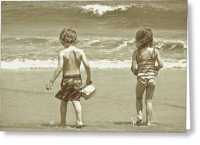 Wee Beachcombers Greeting Card by JAMART Photography