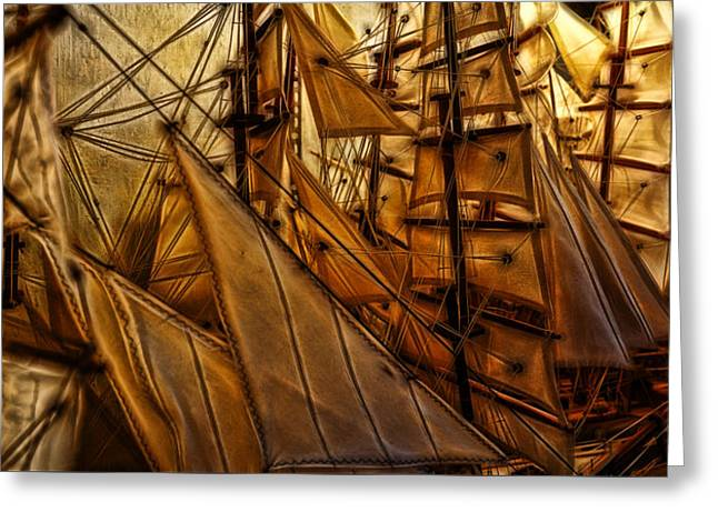 Wee Sails Greeting Card by Cameron Wood