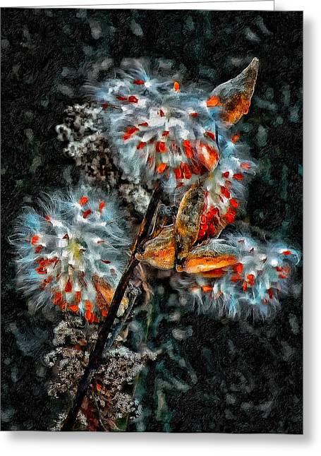 Weed Galaxy Painted Version  Greeting Card by Steve Harrington