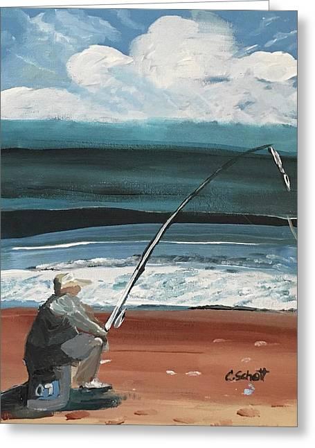 Weekend Fisherman Greeting Card